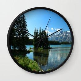 Island In the Lake Wall Clock