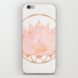 Blush Zen Lotus ~ Metallic Accents iPhone Skin