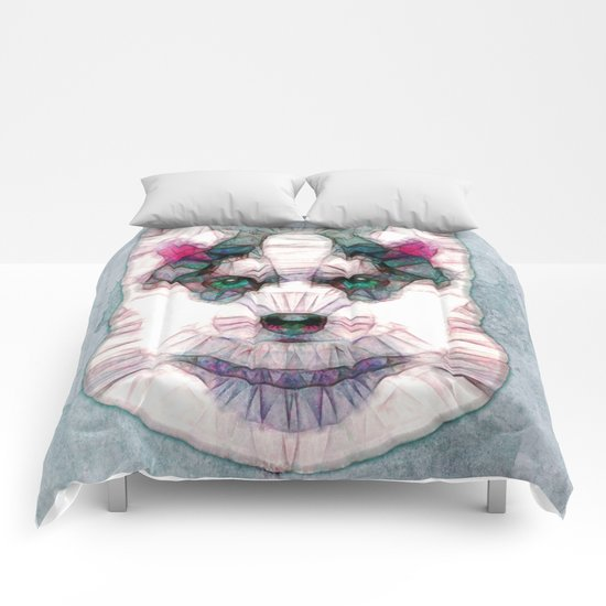 abstract husky puppy Comforters