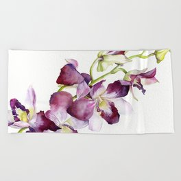 Radiant Orchids: Magenta Dendrobiums Beach Towel
