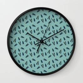 Lightning Bugs Repeat Pattern Wall Clock