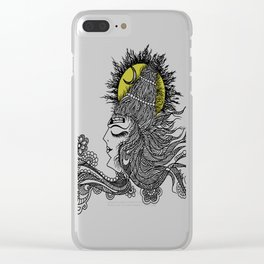 Shiva Moon Clear iPhone Case