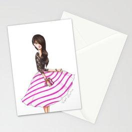 Striped skirt Stationery Cards