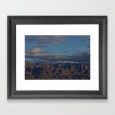 Virgin Mountains in February Framed Art Print