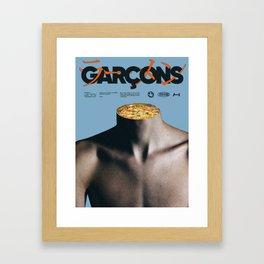 Garçons Framed Art Print