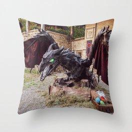 L'INCANTO DEL TRONO on medieval village of Grazzano Visconti (PC) 15-06-2019 Throw Pillow