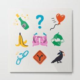 Gemini Emoji Metal Print