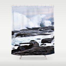 Ferocious Ocean -- Peggy's Cove, Nova Scotia  Shower Curtain