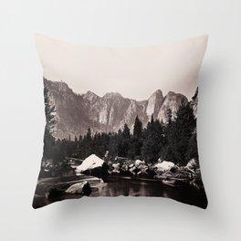 Merced River, Yosemite Valley, California, ca. 1865 Throw Pillow