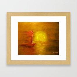 Metallic Sail Framed Art Print