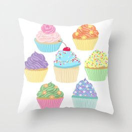 Cupcake Squad Throw Pillow