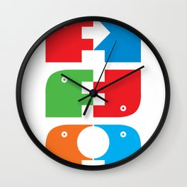 Graphical beasts1 Wall Clock