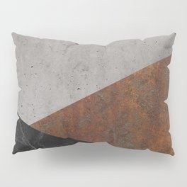 Concrete, Rusted Iron, Marble Abstract Pillow Sham