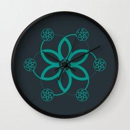 Evolution   Alien crop circle   Sacred geometry Wall Clock