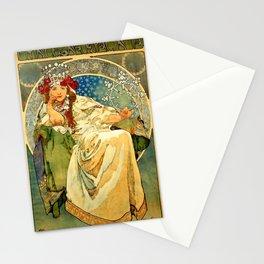 "Alphonse Mucha  ""Princess Hyacinth"" Stationery Cards"