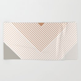 Paris Stripes 03 - Classic Vintage Minimalist Beach Towel