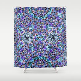 Persian kaleidoscopic Mosaic G509 Shower Curtain