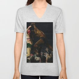George Bellows - Both Members of This Club Unisex V-Neck
