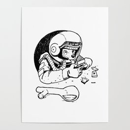 Laika the Astronaut Poster