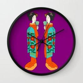Twin Geisha Wall Clock
