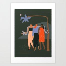 Girlfriends night out Art Print