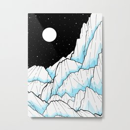The Ice mountains Metal Print