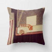 basketball Throw Pillows featuring Basketball by KimberosePhotography