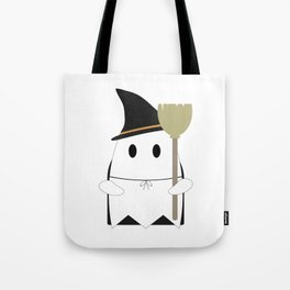 Ghost in Witch Costume Tote Bag