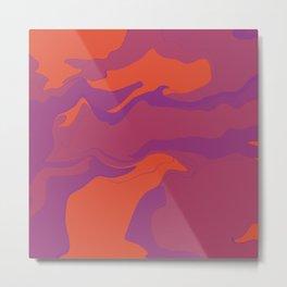 Abstract Desert Blues Pattern 42 Metal Print