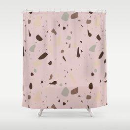 Terrazzo pattern earth pink Shower Curtain