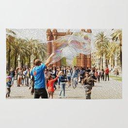 Barcelona's Arc de Triomf Rug