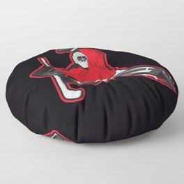 illustration of ice hockey goalie Floor Pillow