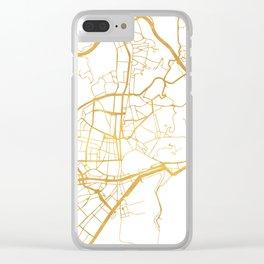 MALAGA SPAIN CITY STREET MAP ART Clear iPhone Case