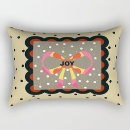 Gift Wrapped up with Joy and Black Polka Dots Rectangular Pillow