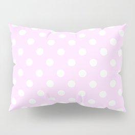 Small Polka Dots - White on Pastel Violet Pillow Sham