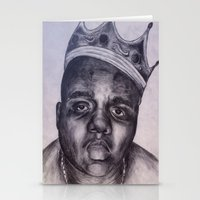 biggie Stationery Cards featuring BIGGIE by Tara Dacle