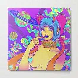 Space Gal Jaemie Metal Print