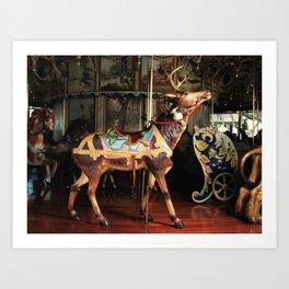Outside Row Deer Art Print