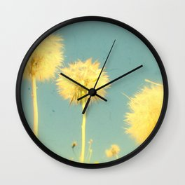 Summer Dandelions #2 Wall Clock