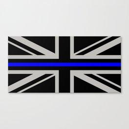 Police: British Flag & The Thin Blue Line Canvas Print