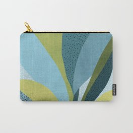In The Shadows / Abstract Maximal Flora in French Blue and Olive Carry-All Pouch