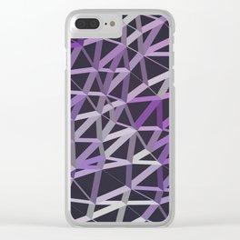 3D Futuristic GEO Lines V Clear iPhone Case