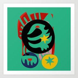 Green Jade Abstract Mystic Decoration Art by Emmanuel Signorino Art Print
