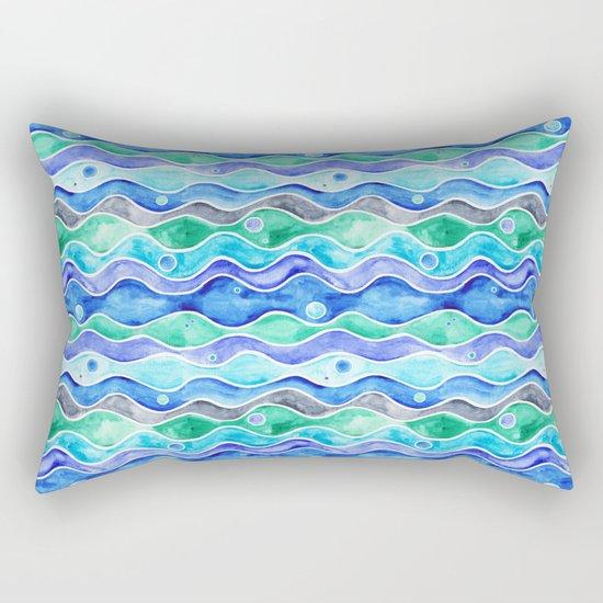 Ocean Pattern - Dolphin Rectangular Pillow