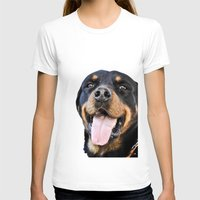 rottweiler T-shirts featuring Happy rottweiler by StarsColdNight