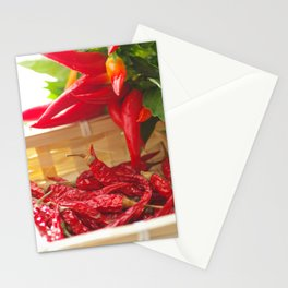 Hot chili pepper for kitchen design Stationery Cards