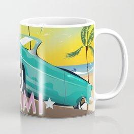 Miami, Florida, USA retro travel poster Coffee Mug