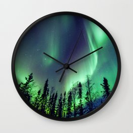 Northern Lights in Yellowknife Wall Clock