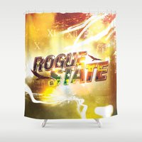 rogue Shower Curtains featuring Rogue State by SeraphimChris