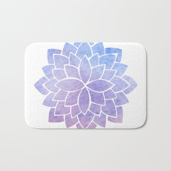 Purple Mandala Bath Mat